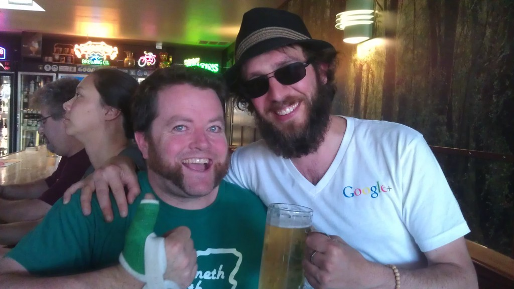 Thumbs up! It's APEX publican Jesse McCann and Angelo