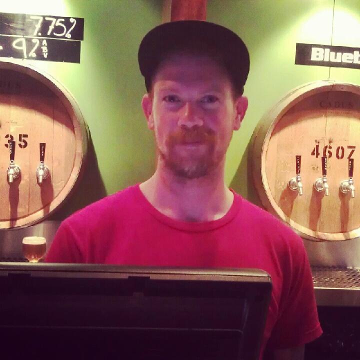 Beertender Tyler at Cascade Barrel House - one of Portland's finest