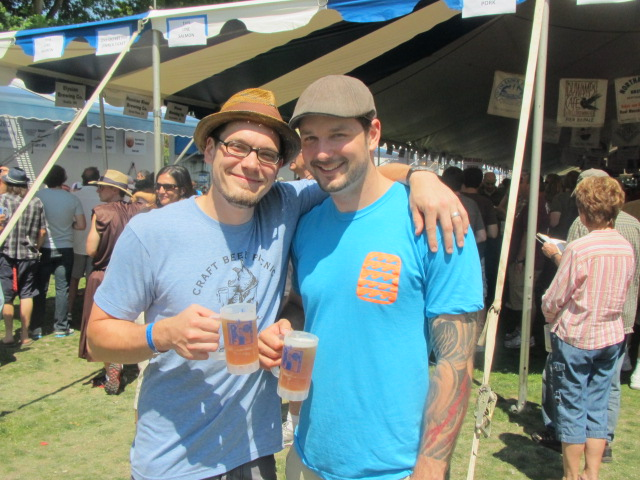 Beer brethren: Drew (left) and Erik Salmi at 2012 Oregon Brewers Festival
