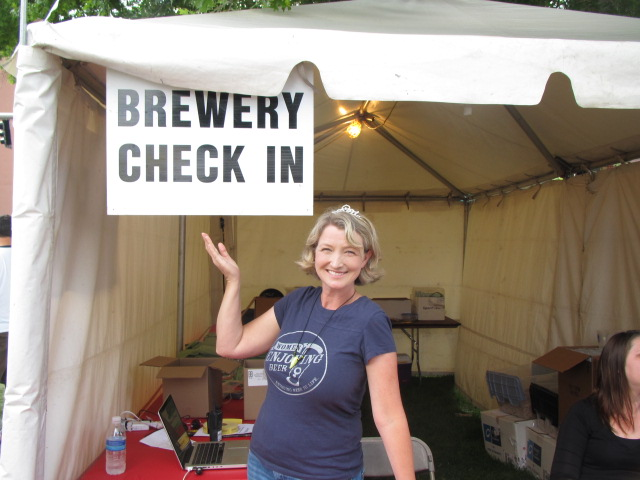Chris Crabb running things at the Oregon Brewers Festival