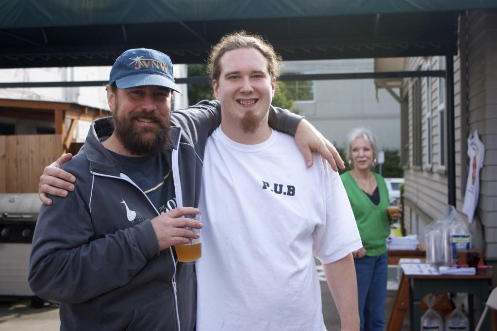 "Portland U-Brewers Jason ""Jay"" Webb (left) and Aaron Gillham"