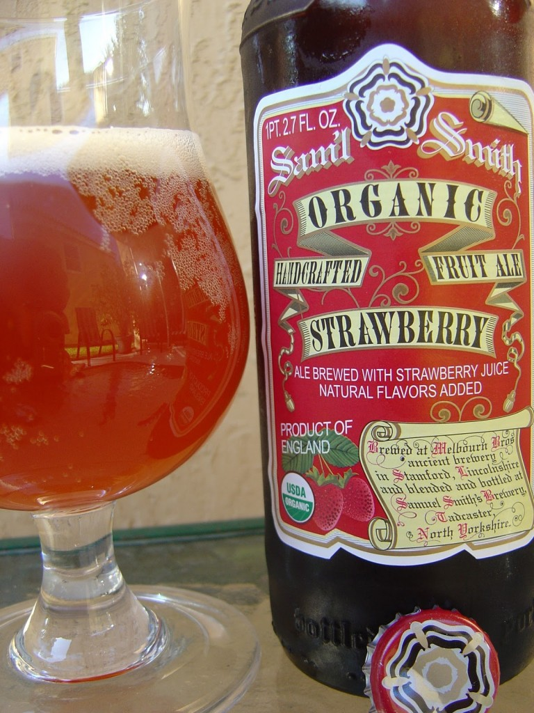 Samuel Smith's Organic Strawberry Ale (photo from DailyBeerReview.com)