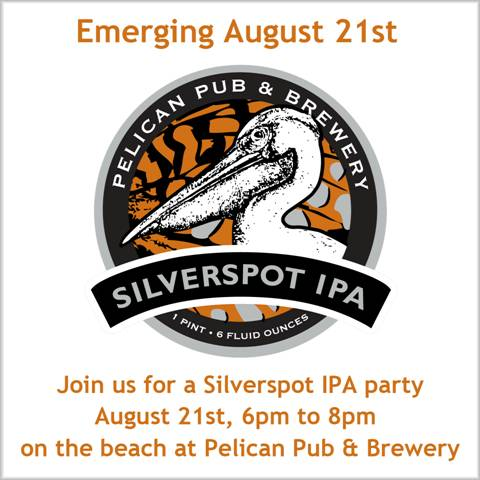 Pelican releases Silverspot IPA on August 21, 2012