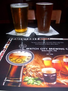 Craft beers at Watch City Brewing Co. in Waltham, MA