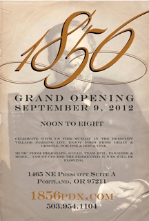 1856 Bottle Shop Grand Opening