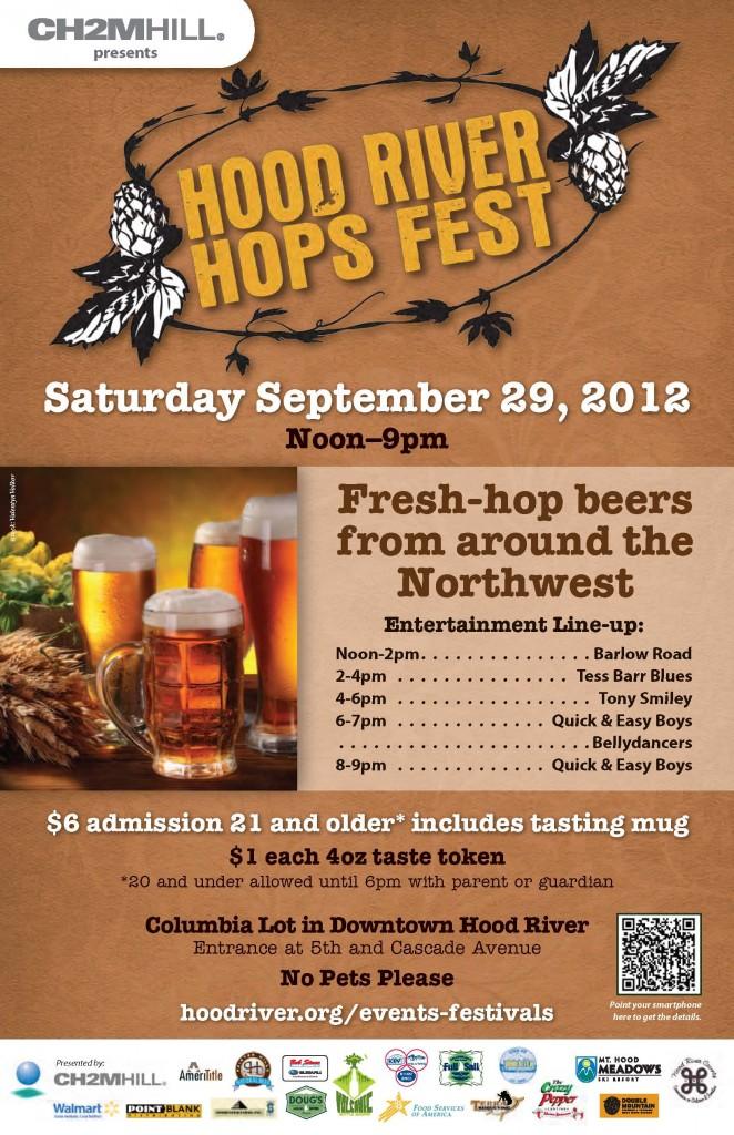2012 Hood River Hops Fest poster