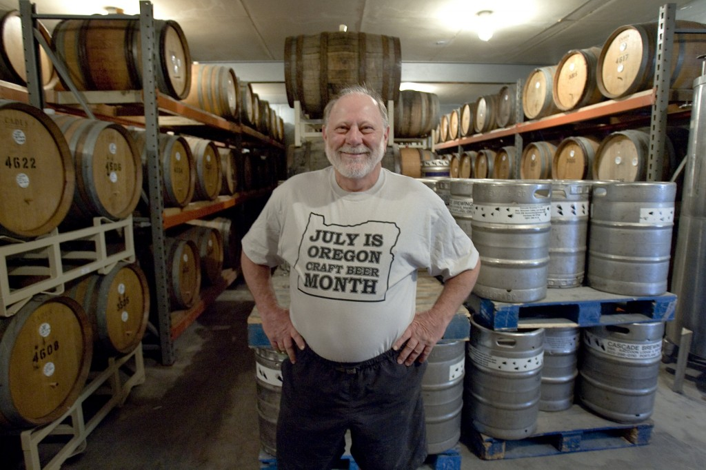 Art Larrance of Cascade Brewing (photo by Ross William Hamilton of The Oregonian)