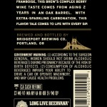 BridgePort Enchanted Brewer's Reserve (back label)
