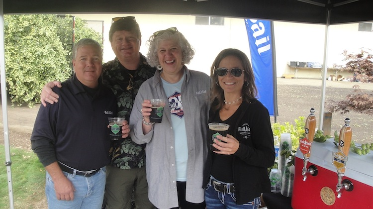 L-R: Sodbusters second generation family leader Doug Weathers, Full Sail's Executive Brewmaster Jamie Emerson, co-founder and CEO Irene Firmat and Marketing Manager Sandra Evans.