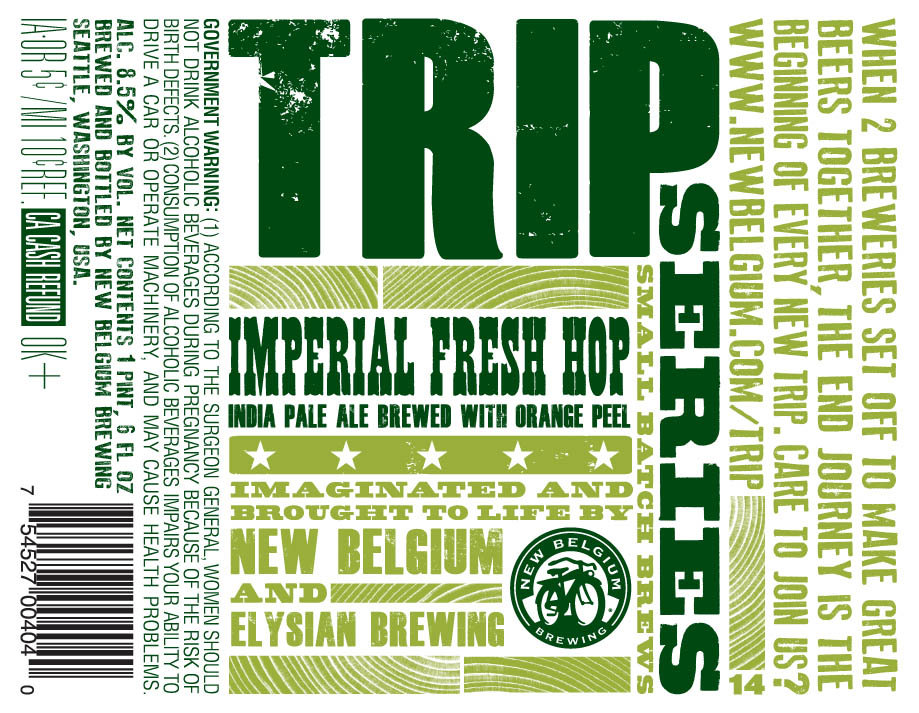 New Belgium and Elysian Trip Imperial Fresh Hop IPA with Orange Peel