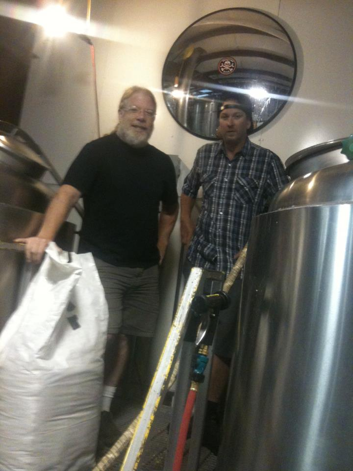 Brewmaster John Harris and Boneyard founder/brewer Tony Lawrence