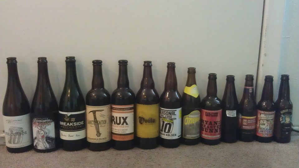 Lots of tasty craft beers where enjoyed by us on Labor Day 2012. Here's a look at a few that were drunk