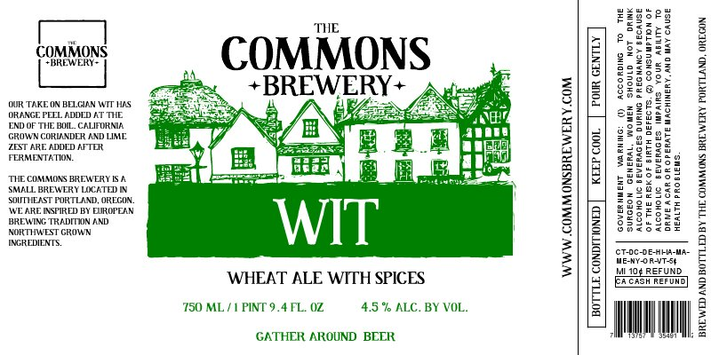 The Commons Wit was release in bottles in August 2012