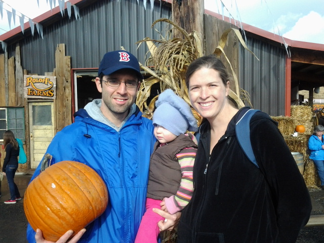 Pumpkin hunters L to R: Mario, Neva Jane, and Natalie De Ieso