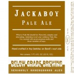 Below Grade Jackaboy Pale