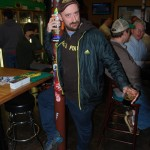 Brewpublic's Aaron Miles works a pole at Sean Fest