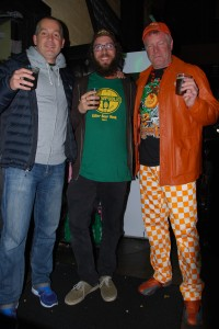 L to R: Rogue's Brett Joyce, Brewpublic's Angelo De Ieso, and Elysian's Dick Cantwell at Killer Pumpkin Fest 2012 at Green Dragon (photo by Charlie Herrin of Beer Traveler TV)