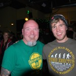Beer Traveler Charlie Herrin (left) and Walking Man brewer Cory McGuiness at Killer Pumpkin Fest at Green Dragon 2012