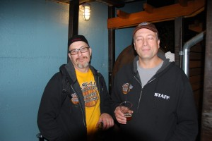 Ryan McCarthy (left) and Preston Weesner of Cascade Brewing at Killer Pumpkin Fest 2012