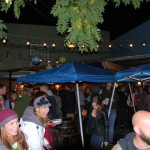 Crowd on at Killer Pumpkin Fest 2012 in the outdoor patio area of Green Dragon