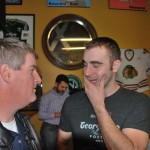 General Distributing's Jim Fick (left) and Georgetown Brewing's Sean Miller at SeanFest