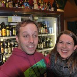 Breakside Brewery's Ben Edmunds with 10 Barrel's Mayme Berman