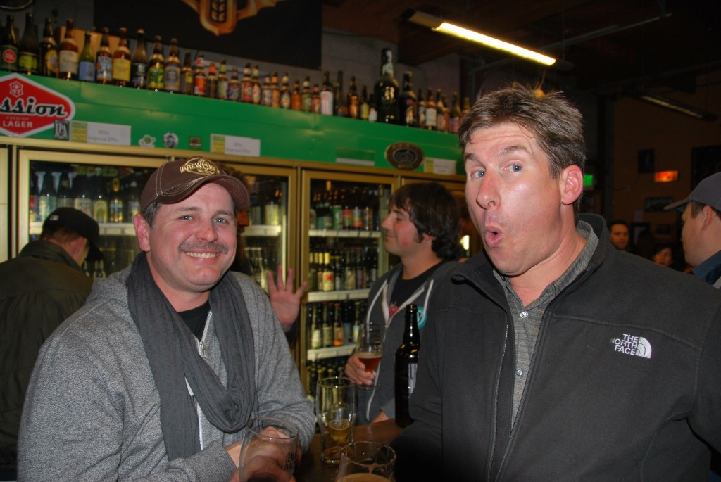 Duke Geren of FH Steinbart Co (left) and Dan Del Grande of Bison Brewing at Sean Fest
