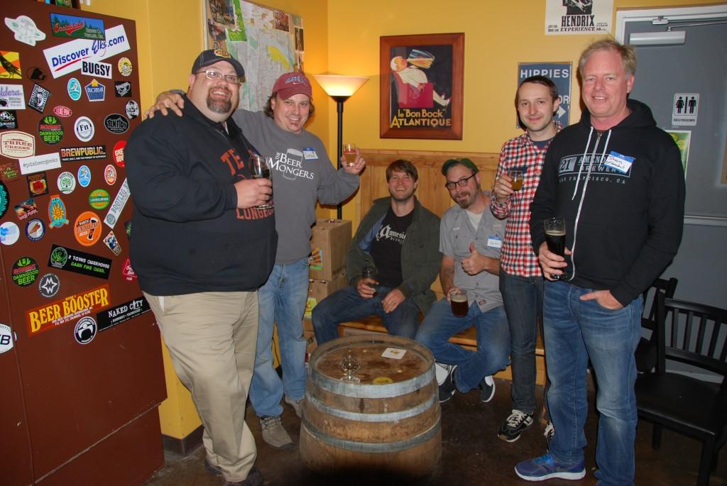 L to R: Shawn Kelso, Sean Campbell, Sean Thommen, Sean Burke, Sean Green, and Shaun O'Sullivan at Sean Fest