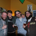 L to R: Saraveza's Tyler Vickers (left) , Amnesia's Sean Thommen, Commons' Sean Burke, Brewpublic's Angelo De Ieso at Sean Fest