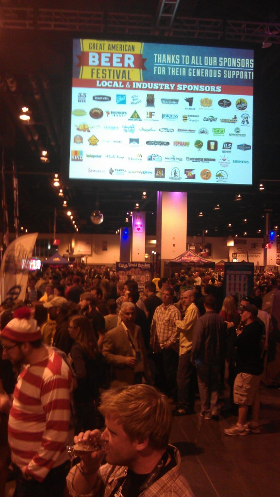On the floor at the GABF 2012