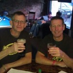 Mike Haines and Michael Kinion of Vertigo Brewing at MikeFest at Roscoe's Pub during the kickoff of KillerBeerWeek at Roscoe's Pub