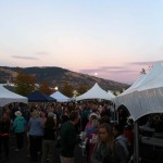 Moon rising over the Hood River Hops Fest