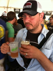 The BeerMongers, Jim Bonomo, sampling some Fresh Hops from his own vessel