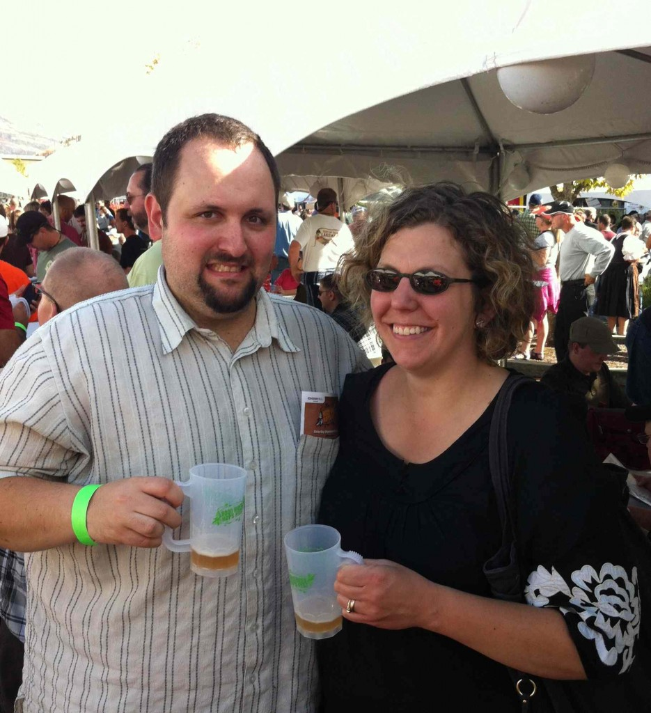 Theo & Amanda Celebrating their 5th Wedding Anniversary at the Hood River Hops Fest