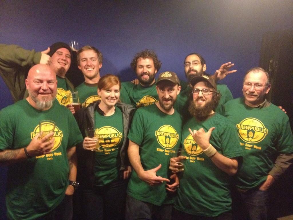 KillerBeerWeek crew representing at Roscoe's Pub