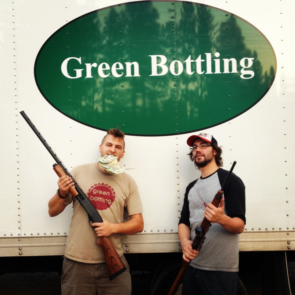 Green Bottling employees of the month Josh Kasprzak and Paul Bastian