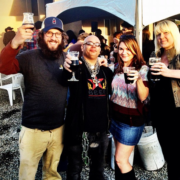 Angelo, Fraggle, Kim, and Ashley at Berryessa Brewing grand opening party