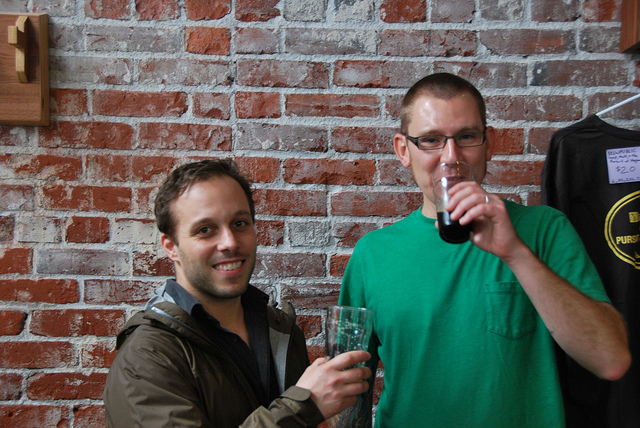 Ben Edmunds and Jacob Leonard of Breakside Brewery