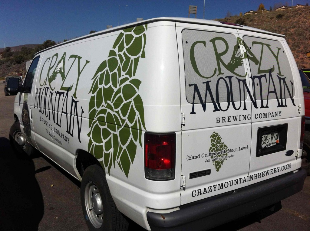 Crazy Mountain Beer Van