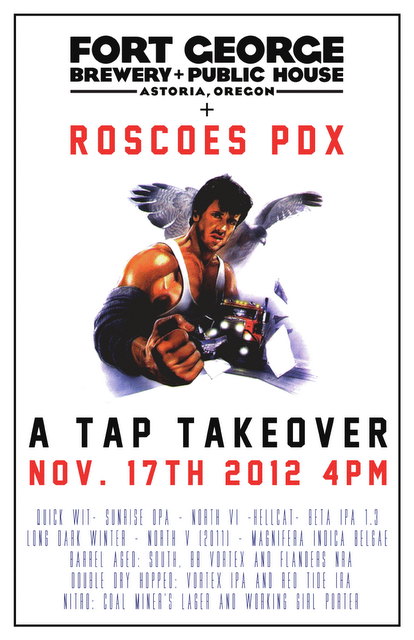 Fort George Roscoe's Tap Takeover