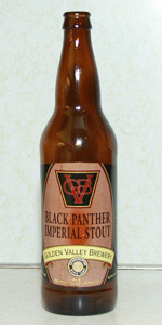 Golden Valley Brewing Black Panther Imperial Stout (photo from RateBeer.com)