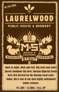 Laurelwood Moose & Squirrel Russian Imperial Stout