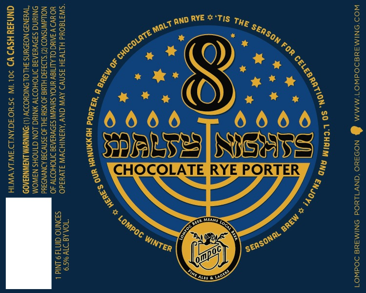 Lompoc 8 Malty Nights Chocolate Rye Porter