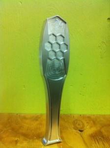 Prototype tap handle at Nectar Creek Honeywine