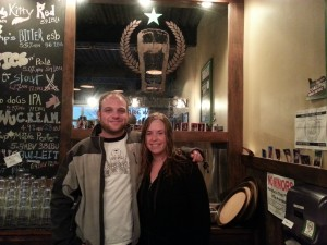 Coalition Brewing co-founders Elan Walsky (left) and Kiley Hoyt