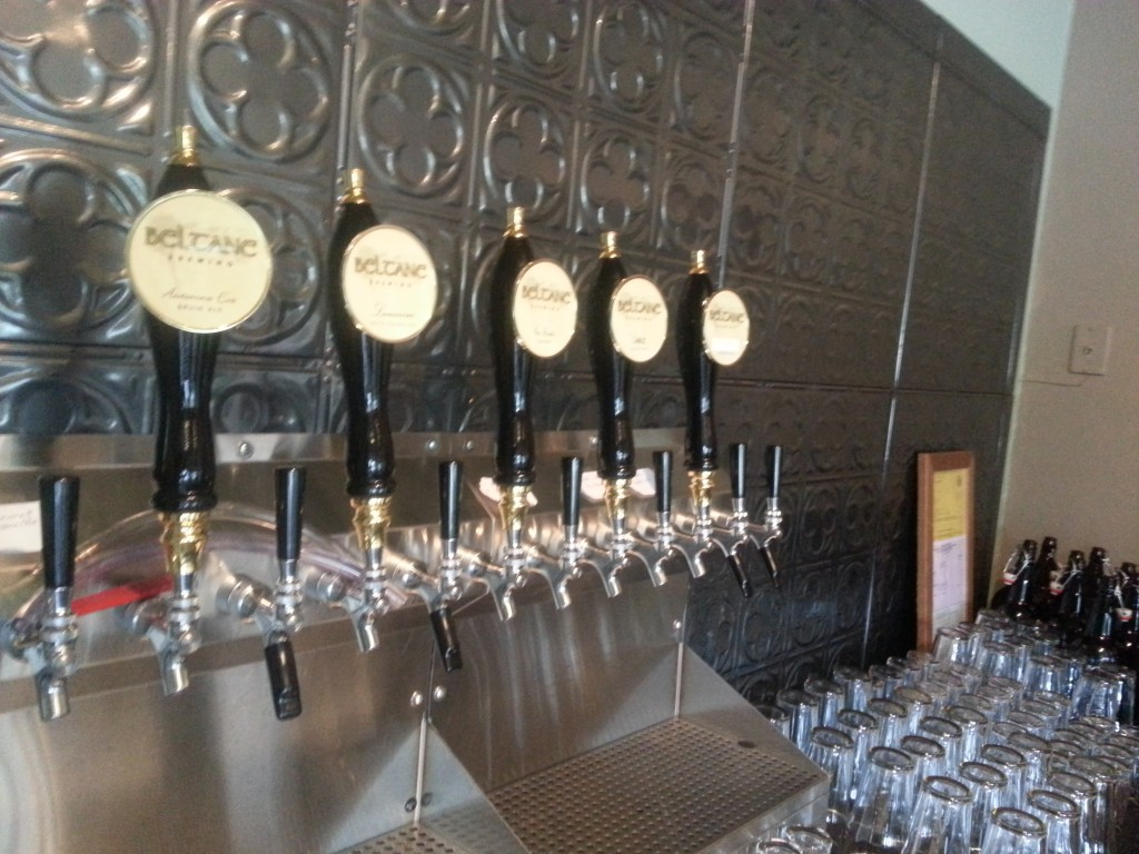 Tap handles at Beltane Brewing