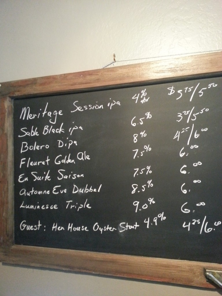 On tap list at Beltane Brewing