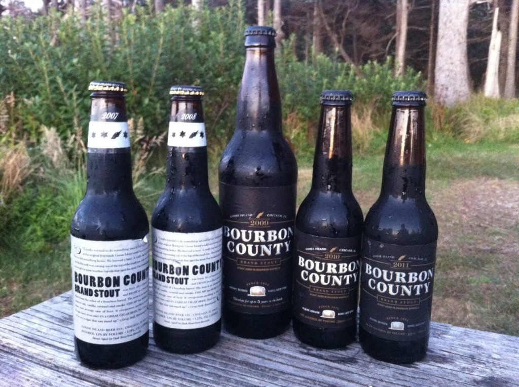 Goose Island Bourbon County Brand Stout 5 Year Vertical, 2007-2011