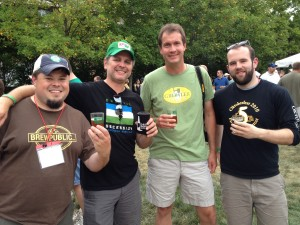 Sean Jansen (left) at the 2012 Beer Bloggers Conference in Indianaopolis, IN