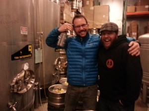 "Hopworks Brewmaster Christian Ettinger (left) with Dan ""Bully"" Bollwinkel"